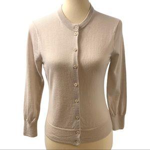 Patagonia Cream Merino Wool Button Front Cardigan
